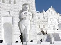 giant snow sculpture 3